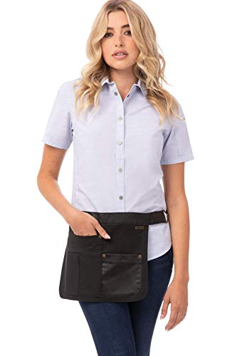 Chef Works unisex adult Indy Hipster Work Utility Apron, Steel Gray, One Size US