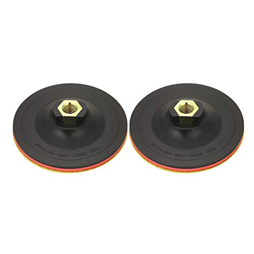 KKmoon 2Pcs Hook and Loop Backing Pad 4.5in M14 Backing Plates Power Buffer Polisher Pad Angle Grinder Sander Tool