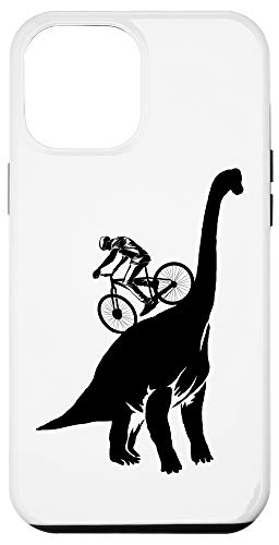 iPhone 12 Pro Max Funny MTB Brachiosaurus Dinosaur | Cute Mountain Bike Gift Case