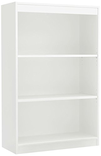 South Shore Axess 3-Shelf Bookcase-Pure Black