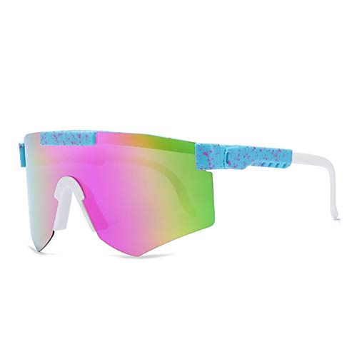 Tletiy Gafas Sol Ciclismo Hombre, Unisex al Aire Libre Prueba Viento Ciclismo Pesca Golf Doble Ancho polarizado Espejo Tr90 Montura Gafas Ciclismo Aire Libre Deportes Gafas Sol polarizadas