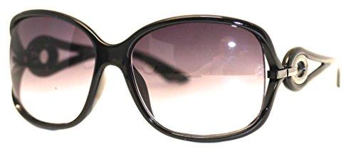 Kenneth Cole Reaction Sunglass Black Rectangle Plastic, Smoke Gradient Lens KC1232 1B