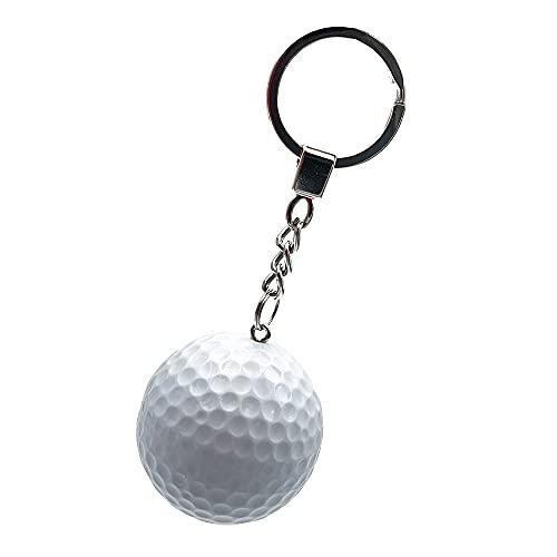 Echter Golfball mit Schlüsselanhänger, Taschen-Anhänger, Dekorationen, weißer Golfball