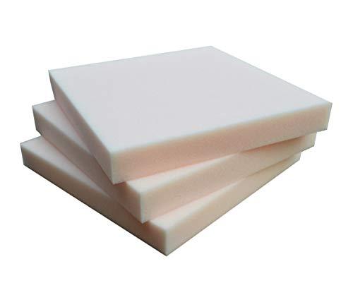 SEEBAUER Living® Schaumstoffplatte | Verschiedene Größen | RG35/40 | Auflage für Möbel und Palettenmöbel | Schaumkissen aus PU-Schaum (50 x 50 x 5 cm)