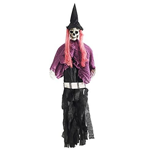 40 x 80 cm, decoración de Halloween, cara de fantasmas, esqueleto de terror para puerta exterior, interior, casa, yard Party