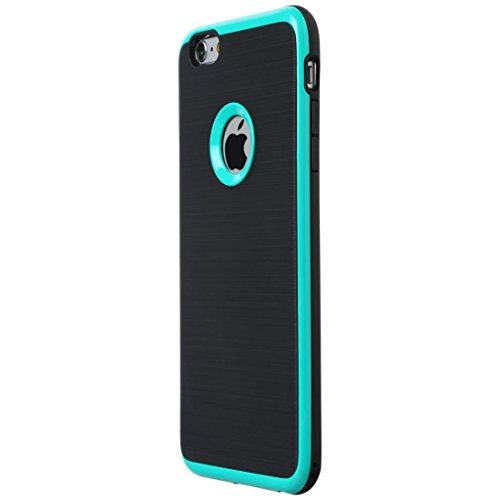 Ultratec Custodia Protettiva in TPU per Smartphone/Guscio per iPhone 6 Plus con Aspetto a Contrasto di Colori e Bordo colorato, Verde Scuro