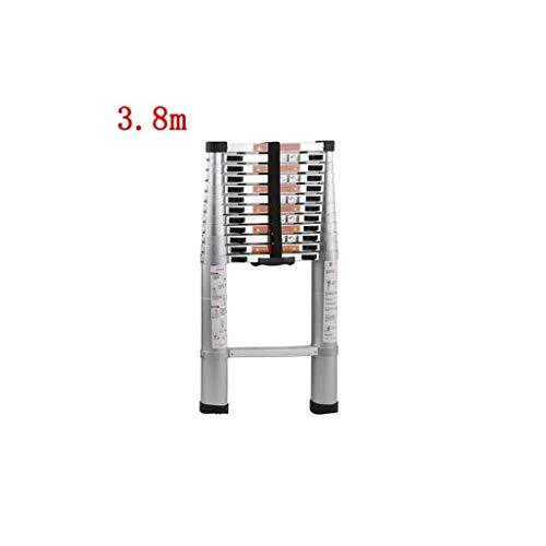 IAIZI Stap Ladder 4M Telescopische Extension Ladder:Aluminium Draagbare Multi-Purpose Vouwen A-Frame Ladder Voor Home Loft Office 150 Kg Laadcapaciteit