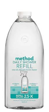 (Pack of 2) Eucalyptus Mint Daily Shower Spray Cleaner Refill by Method 68 fl oz