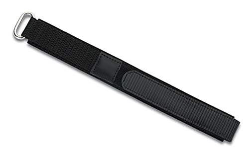 Eichmüller - Correa de Repuesto para Reloj Deportivo (Tela, con Cierre de, 22 mm), Color Negro