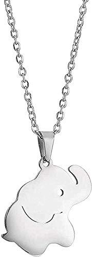 Collar para mujeres hombres collar lindo pequeño elefante colgante animal collar para mujeres regalo cadena de acero inoxidable collar diseño joyería collar colgante cadena para mujeres hombres
