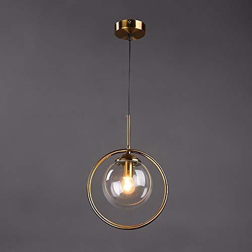 DULG Nórdico moderno industrial de la lám de cristal claro de globo de la bola colgante Una luz Transparente, valor: Transparente
