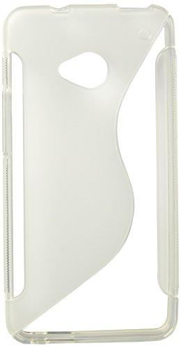 HTC One M7   TPU iCues S-Línea Blanca   Transparente lámina protectora caso de la piel Claro Claro gel de silicona transparente de protección [protector de pantalla, incluyendo] Cubierta Cubierta Funda Carcasa Bolsa Cover Case