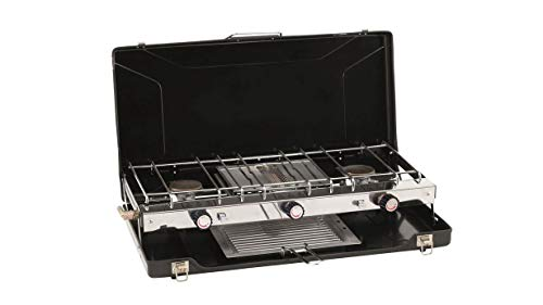 Outwell Portable Stove Appetizer Trio| 2 x 1500W Burner and 1500W Grill| Connects To An LGP Gas Cylinder| Great For BBQ…