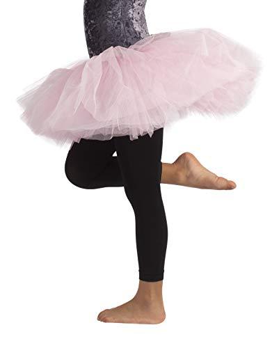 LEGGINGS DANZA BIMBA | PANTAMAGLIA DANCE | LEGGINGS BALLET | NERO, ROSA | 4/6, 8/10, 12/14 ANNI | 60 DEN | CALZETERIA ITALIANA | (4/6 ANNI, NERO)