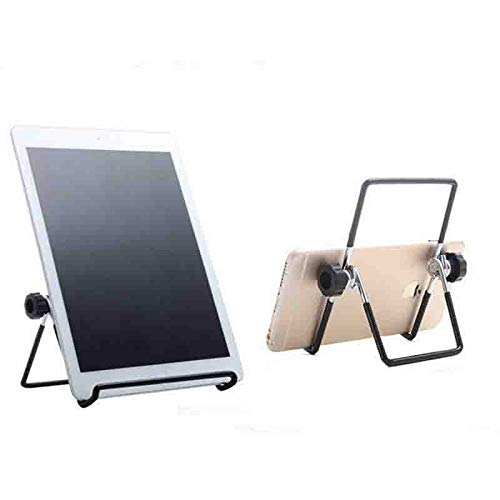 Adjustable Iron Display Stand Easel Foldable Tablet Stand Holder,2 Pack Wire Display Stand for Kindle Tablet iPad, Picture Frame Holder for Photo Portraits, Plate Holders Book Display (Large-A)