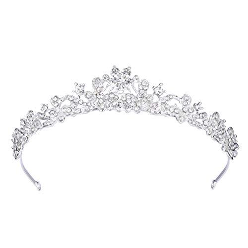 ULTNICE Cristal boda novia dama de honor Tiara princesa Rinestone venda hairband