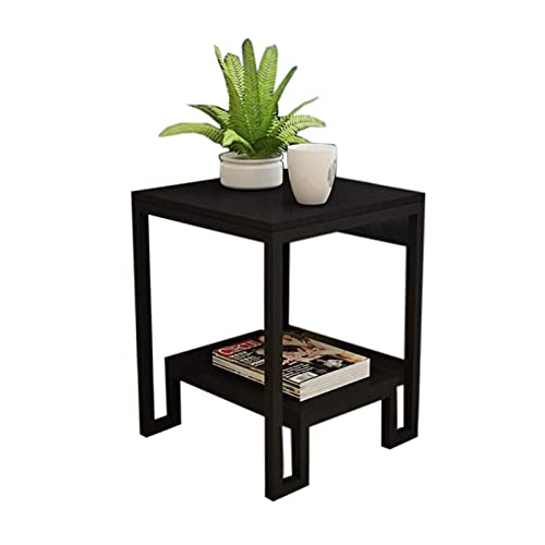 N\C Table Sofa Small Side Table, Living Room Sofa Side Cabinet, Storage Cabinet with Drawer Bedside Table, 4 feet carbonized Steel Frame for Living Room Bedroom