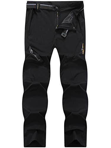 LY4U Pantalones Transpirables Ligeros de Secado rápido para Hombres al Aire Libre Senderismo Camping Trekking Montaña Correr Ciclismo Caza Pantalones elásticos