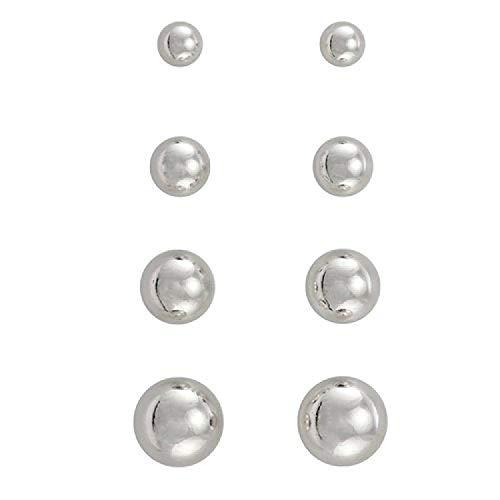 The Olivia Collection - Orecchini a perno in argento Sterling e Argento, colore: Argento, cod. CL4115