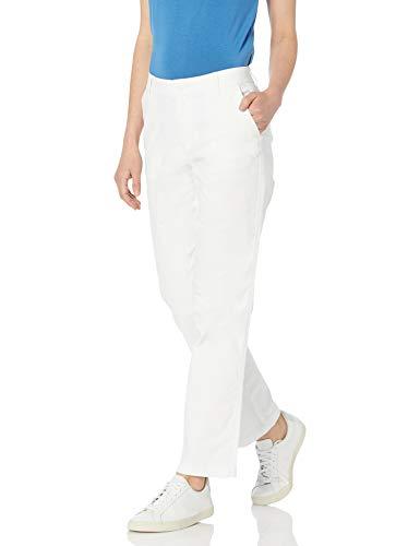 Amazon Essentials Pantalon Chino Coupe cintrée sur Toute la Longueur, Blanc Vif, 32EU