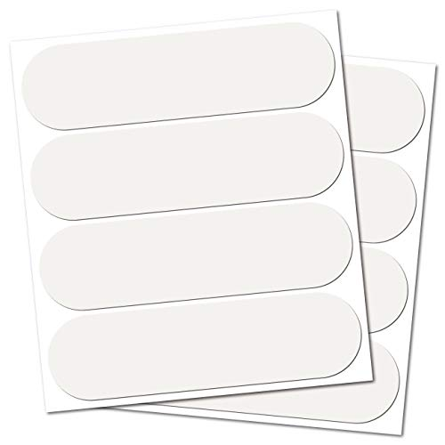 B REFLECTIVE. (2 Pack) 4 retro reflective stickers kit. Night high visibility safety. Adhesive for motorcycle Helmet/Scooter/Bike/Stroller/Buggy/Toys. 8.50 x 2.30 cm. white