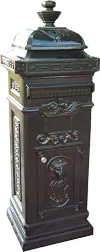 Casa Padrino Standbriefkasten Antik Jugendstil Grün Briefkasten Postkasten Mod4 - Säulenbriefkasten