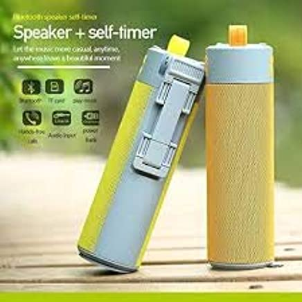 BUYERZONE WITH BZ LOGO Multifunctional Bluetooth Speaker Selfie Stick with Portable Power Bank, Wireless Self Timer and Phone Holder USB/TF Card (Multicolor)
