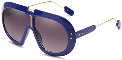 ZYIZEE Gafas de Sol Gafas de Sol cuadradas para Mujer Gafas Grandes de aviación de Gran tamaño a la Moda Gafas de plástico Vintage Montura de Gafas Sombras-C3_Blue_Gray