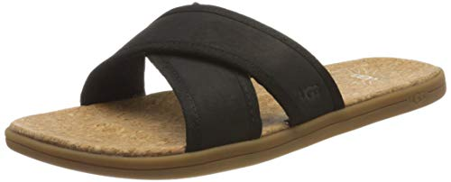 UGG Herren Seaside Slide Sandale, Black, 46 EU