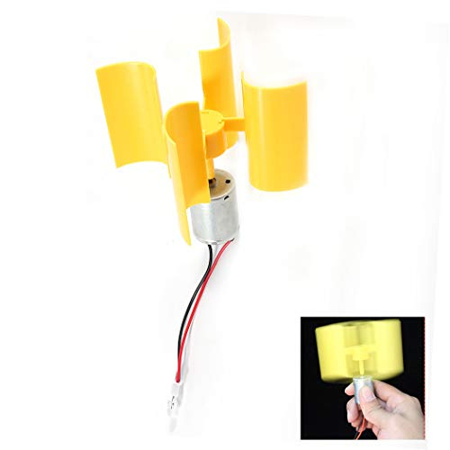 Generador de Electricidad eólico - Mini generador de aerogeneradores Kit generador de Viento Vertical Modelo de enseñanza de Bricolaje