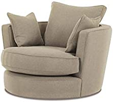 A to Z Furniture - Modern Big Round Sofa Chair in Beige Color