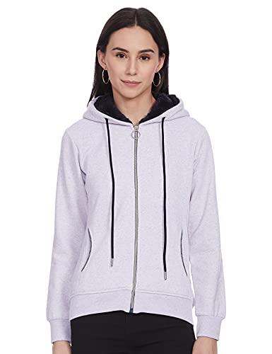 Monte Carlo Womens Full Sleeve Hood Sweatshirt (22008625-1_Blue_36)