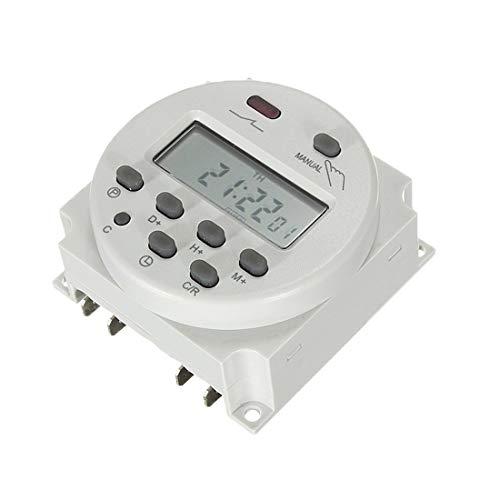 Temporizador Microordenador programador semanal 7 días Interruptor de temporizador electrónico Relé de tiempo de 1 minuto a 168 H batería incorporada (color: 12 V)