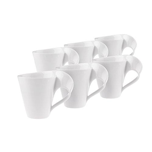 Villeroy & Boch 10-2484-9651 Tasse à café, Porcelaine, Weiß, 36,7 x 21,8 x 14,2 cm