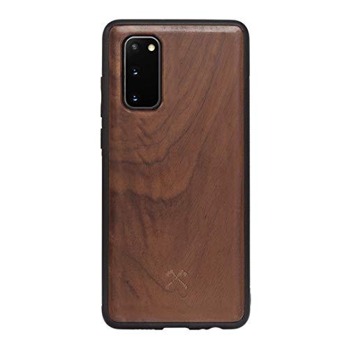 Woodcessories - Hülle Kompatibel mit Samsung Galaxy S20 Aus Echtem Holz - EcoBump Hülle (Walnuss)