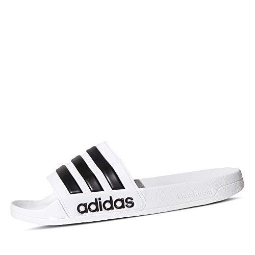 Adidas Adilette Shower, Herren Dusch- & Badeschuhe, Weiß (Footwear White/Core Black/Footwear White 0), 46 EU