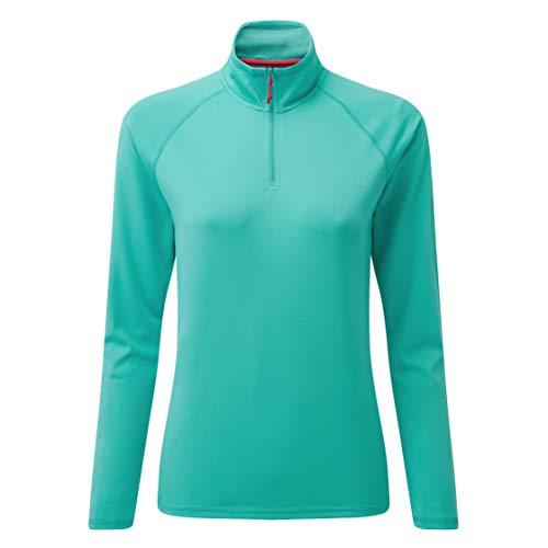 Gill UV Tec T-Shirt de pêche à Manches Longues et col zippé à séchage Rapide pour Femme Turquoise Taille 4