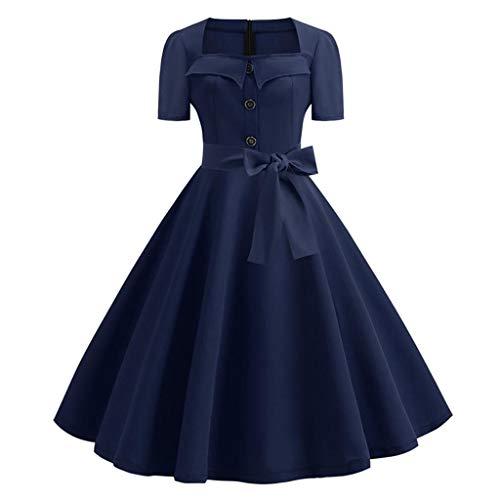 YWSZJ Frauen Sommerkleid Elegante Retro Vintage Robe Kleider Casual Plus Size Party (Size : XXL Code)