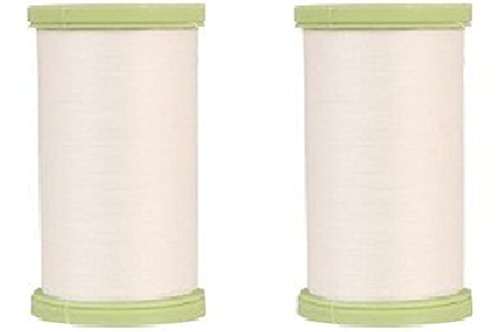 (2 Pack) Coats Dual Duty Plus White Hand Quilting Thread Strong All Purpose with Glace (Glazed) Finish