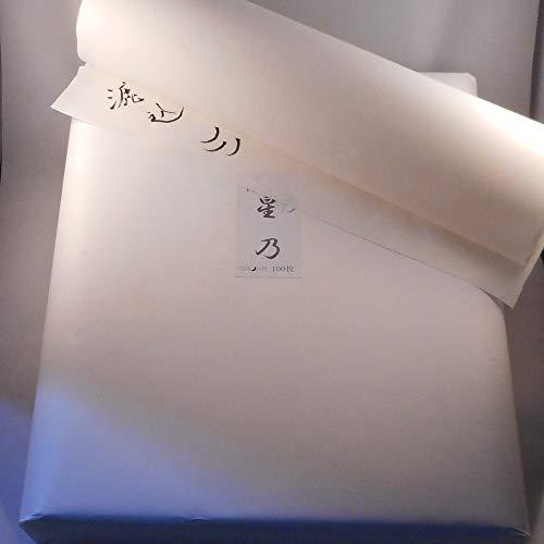 仮名用画仙紙 半切 手漉 漉込加工紙 【星乃】100枚【ツキノカゲ】