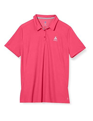 Odlo Damen Polo Shirt s/s F-Dry Poloshirt, Beetroot Purple, L