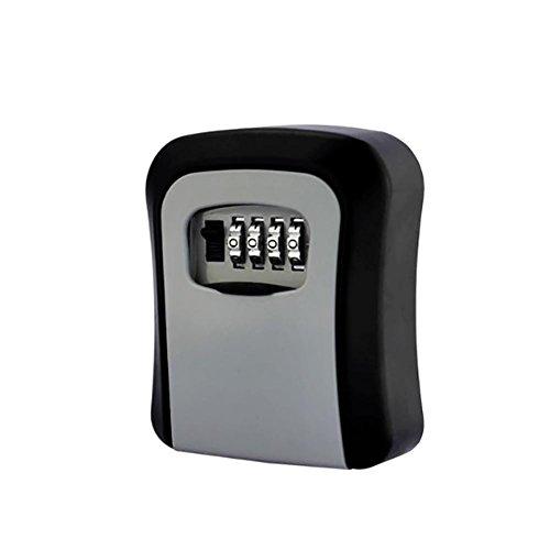 TDJDYQ Porte Mural Mot de Passe Boîte à clés mécanique De Plein air Site Protégez la clé Boîte à clé Convient aux Personnes âgées/Parents Métal