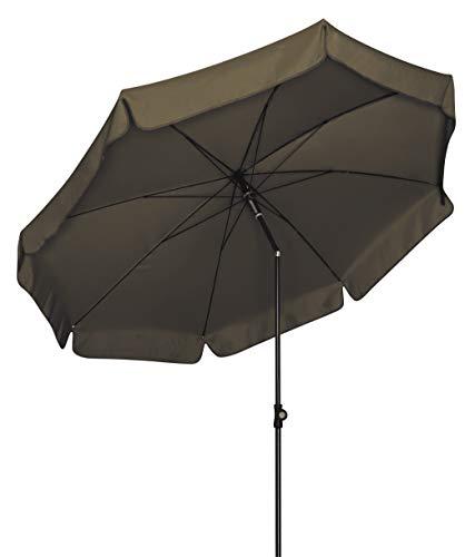 Doppler Absolut wetterfester Gartenschirm Sunline 150 braun, UV-Schutz 50 Plus und Knicker,