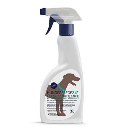 Hundepflege24 Spray Conditioner Entfilzungsspray Hunde 500ml - Entwirrungsspray & Kämmhilfe mit pflegender Aloe Vera für leichtes Bürsten, Mehr Glanz & knotenfreies Haar - Fellpflege Hunde als Spray