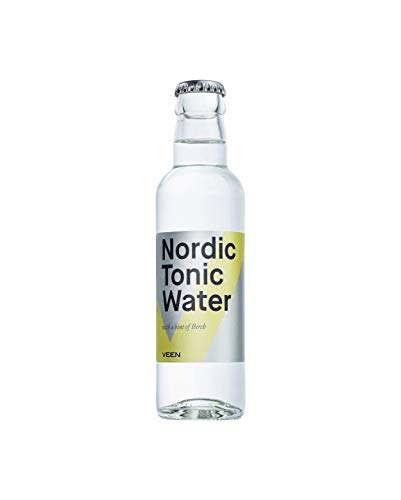 VEEN Nordic Tonic Water – 24x 200ml - Bitter Limonade in Glasflaschen, Club Soda aus Finnland für hochwertigen Gin und Wodka, Longdrink Mix-Getränk aus Quellwasser