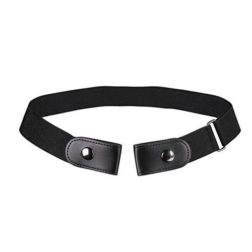 LDGG Cinturón elástico sin hebilla, cinturón invisible elástico, correa ajustable de metal deslizante para mujeres y hombres