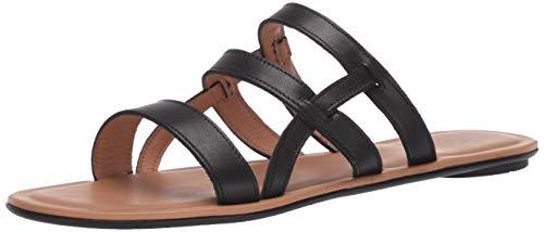 Aquatalia Women's Flat Sandal, Black, 5.5