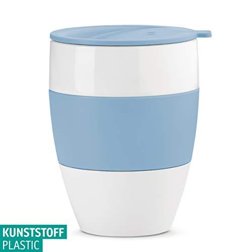 Koziol Aroma to go 2.0 Thermobecher mit Deckel, Kunststoff, Mehrfarbig, 9.2 x 9.2 x 12 cm