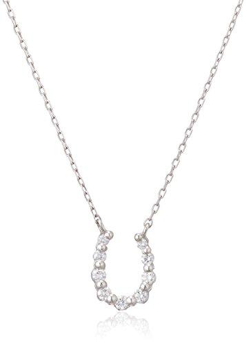[VAヴァンドーム青山] VA VENDOME AOYAMA PT900 プラチナ ダイヤモンド 0.06ct 馬蹄 ホースシュー ネックレス GPAN007840DI