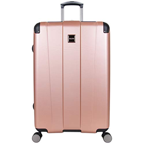 Kenneth Cole Reaction Continuum 28' Lightweight Hardside Expandable 8-Wheel Spinner Checked-Size Travel Luggage, Rose Gold